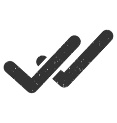 Validation Icon Rubber Stamp vector image