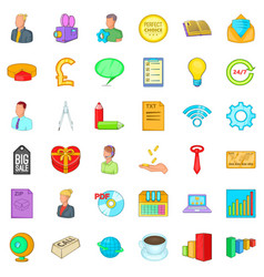viral marketing icons set cartoon style vector image