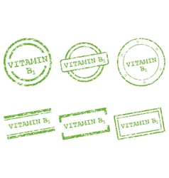 Vitamin B1 stamps vector image