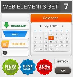 Web elements set 7 vector image