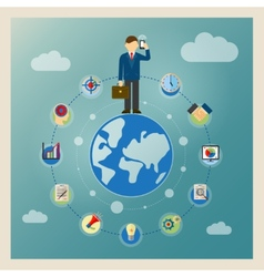 World business concept vector