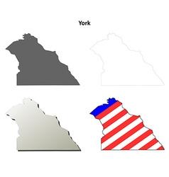 York Map Icon Set vector