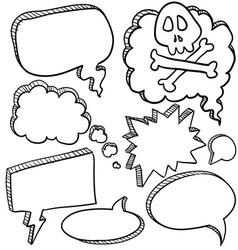 doodle voice bubbles comic vector image vector image