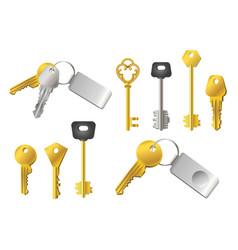 Keys - realistic modern set of objects vector