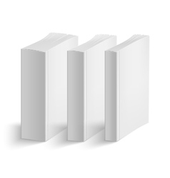 Set of blank vertical books cover template vector image vector image