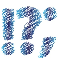 sketched question mark vector image vector image