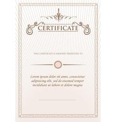 Vintage retro frame certificate background design vector image vector image