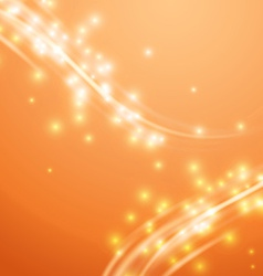 Bright orange swoosh speed glow smooth lines vector image vector image