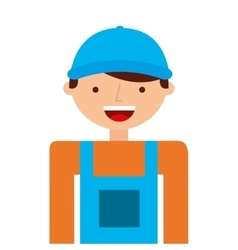 builder man worker icon vector image
