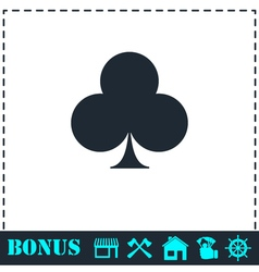 Club card icon flat vector image vector image