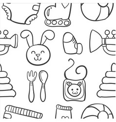 doodle of element baby design vector image
