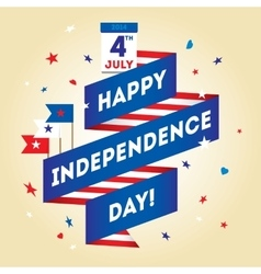 Dreeting card design elements for USA Independence vector image vector image