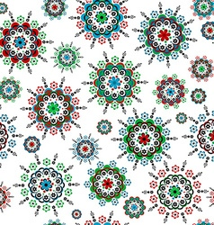 Floral seamless with round colorful flowers vector image vector image