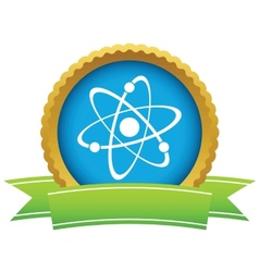Gold atom logo vector image