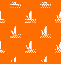 man on windsurf pattern seamless vector image vector image