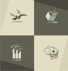 Musical logo design concepts vector image vector image