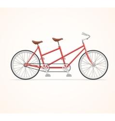 Vintage Tandem Bicycle vector image