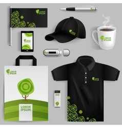 Decorative Elements Of Eco Corporate Identity vector image