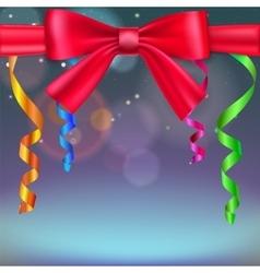 Festive blurred background vector image
