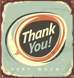 Thank you very much vector image vector image