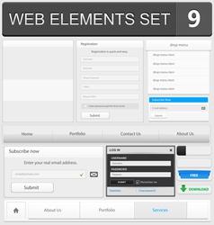 Web elements set 9 vector image vector image