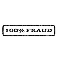 100 percent fraud watermark stamp vector