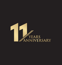 11th year anniversary logo design template vector