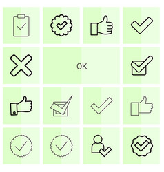 14 ok icons vector image