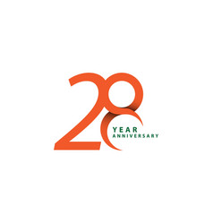 28 year anniversary template design vector