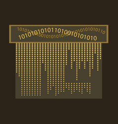 abstract technology background binary computer vector image