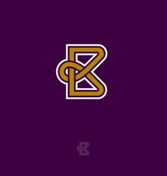 b monogram vector image