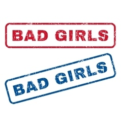 Bad Girls Rubber Stamps vector