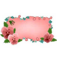 Banner frame flowers vector