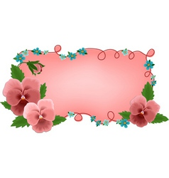 banner frame flowers vector image