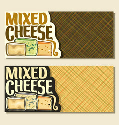 Banners for cheese vector