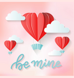 be mine - love lettering quote valentine s day vector image