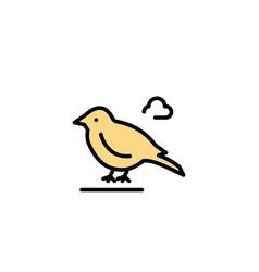 Bird british small sparrow business logo template vector