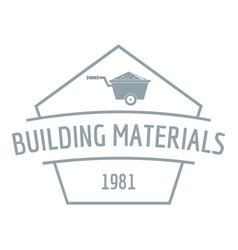 Building materials logo gray monochrome style vector