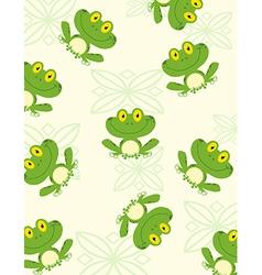 Cartoon frog pattern vector
