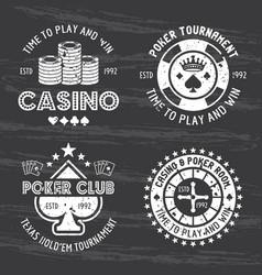 Casino and poker room set gambling vector