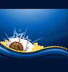 casino gambling blue background elements vector image