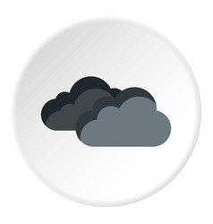 Clouds icon flat style vector