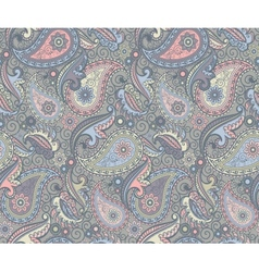 Colored paisley pattern vector