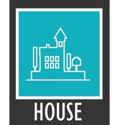 Cover book with contours of modern house vector