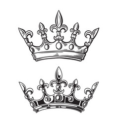 crowns isolated on white vector image