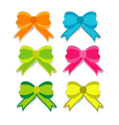cute colorful bow on white background vector image