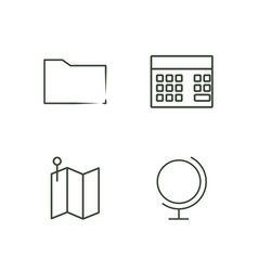data outline icons set vector image