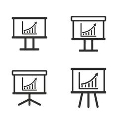 diagram board icon set vector image