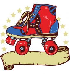 Disco roller boot banner illustration vector