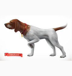 Dog hunting companion 3d icon vector